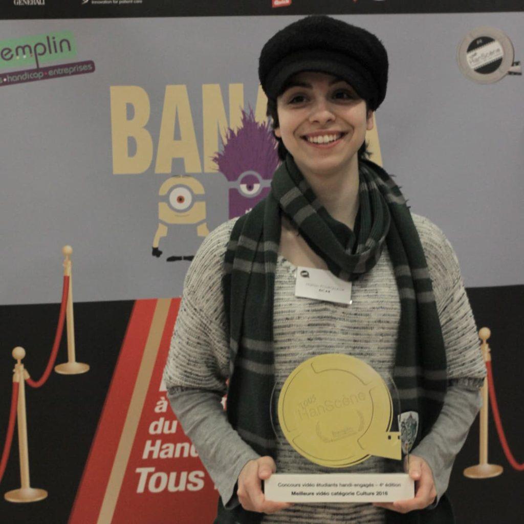 Manon Fourquaux, lauréate du Prix du Jury - catégorie Culture en 2016