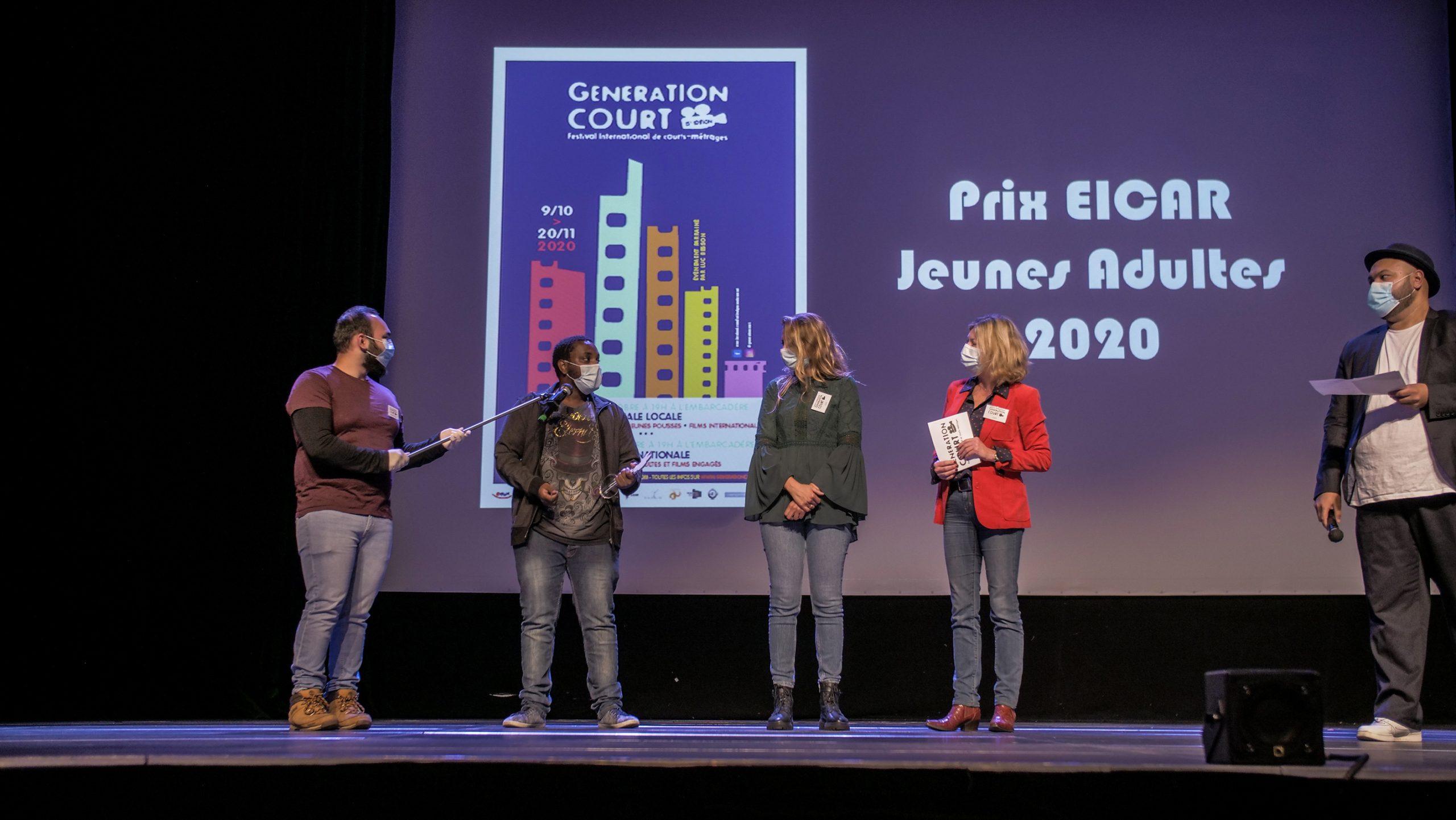 Elton Mendes, lauréat du Prix EICAR à la 1(e édition de Génération Court.