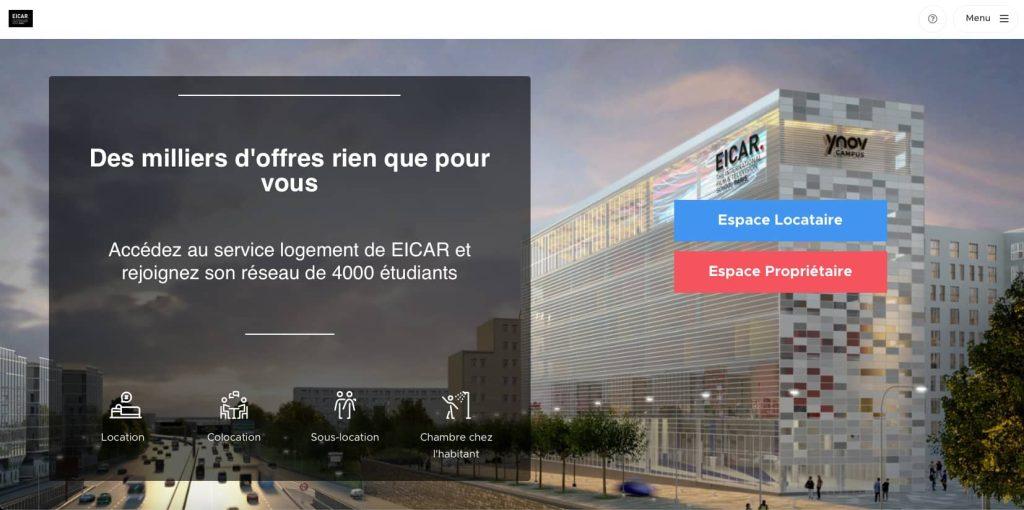 Partenaire de l'EICAR, la plateforme Studapart permet un accès à des annonces de logements exclusives pour nos étudiants