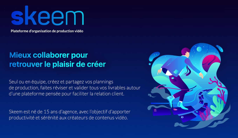 Skeem, la plateforme d'organisation de productions audiovisuelles lancée par Thomas Jacquemin.